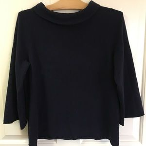 J.Crew navy cashmere sweater- large